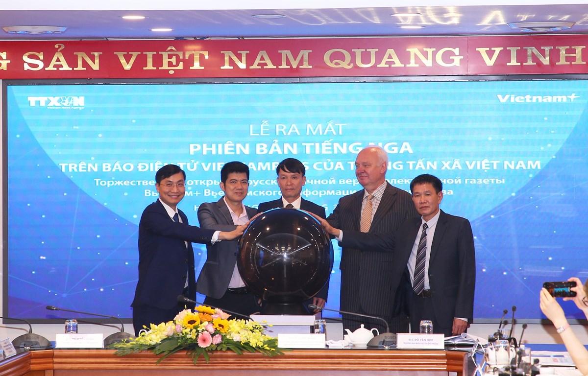 Phiên bản tiếng Nga của Báo Điện tử VietnamPlus chính thức ra mắt sáng 3/3. (Ảnh: Minh Sơn/Vietnam+)