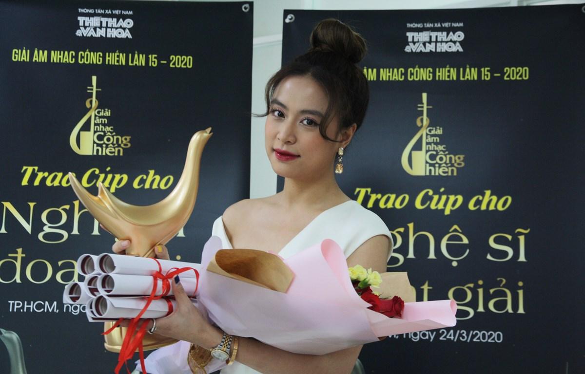 Hoàng Thùy Linh giành bốn giải thưởng tại Giải Âm nhạc Cống hiến lần thứ 15. (Ảnh: BTC)