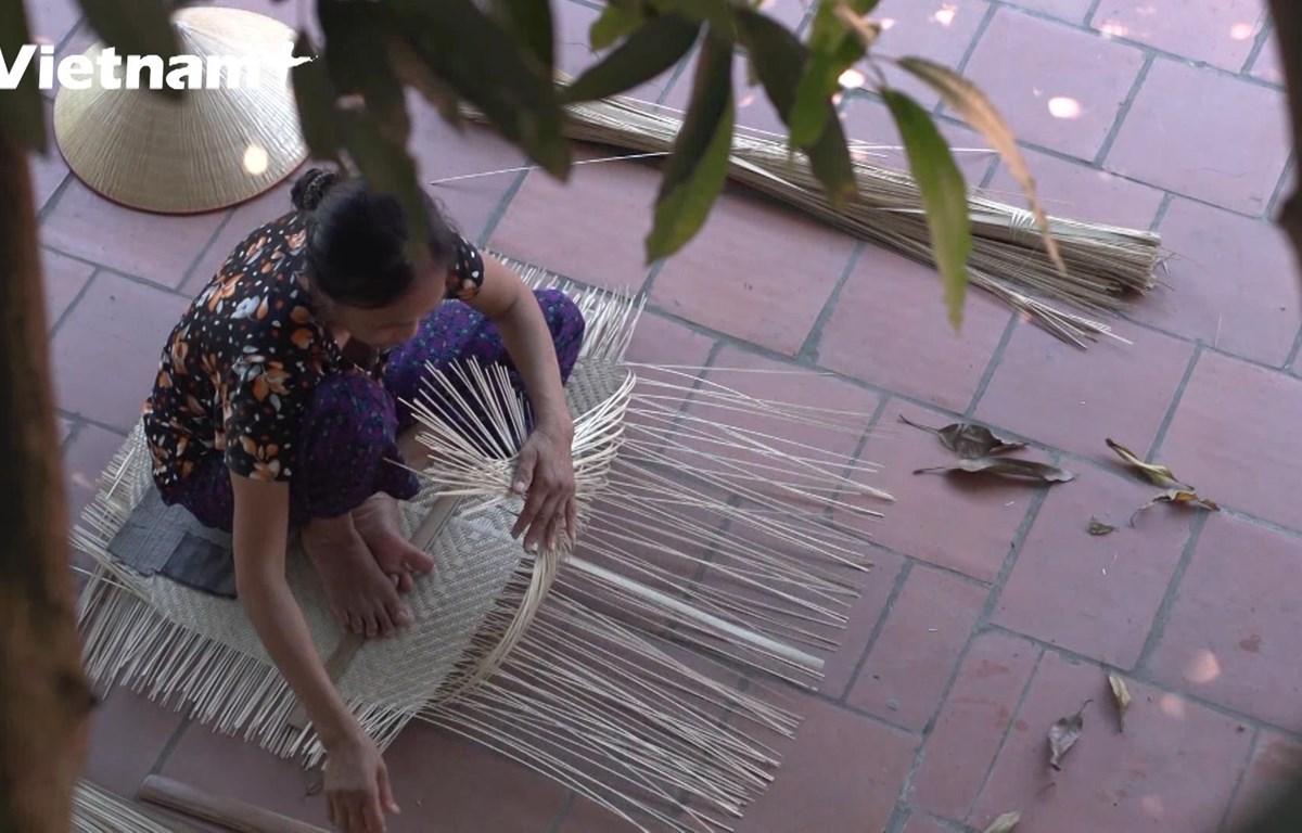 Làng nghề mây tre đan Tăng Tiến, Bắc Giang (Ảnh: Lâm Phan/Vietnam+)