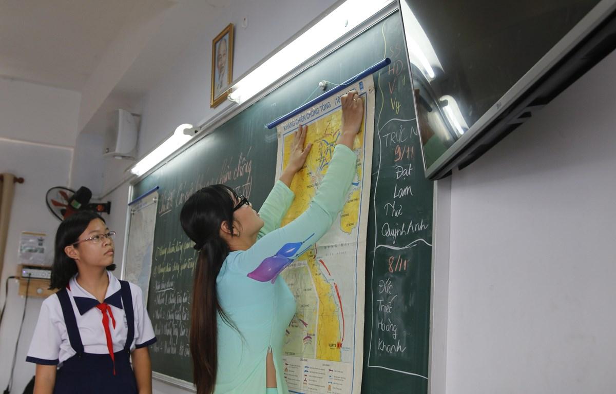 Môn Lịch sử đã được Sở Giáo dục và Đào tạo chính thức chọn làm môn thi thứ tư trong Kỳ thi tuyển sinh vào lớp 10 năm học 2019-2020. (Ảnh: PV/Vietnam+)