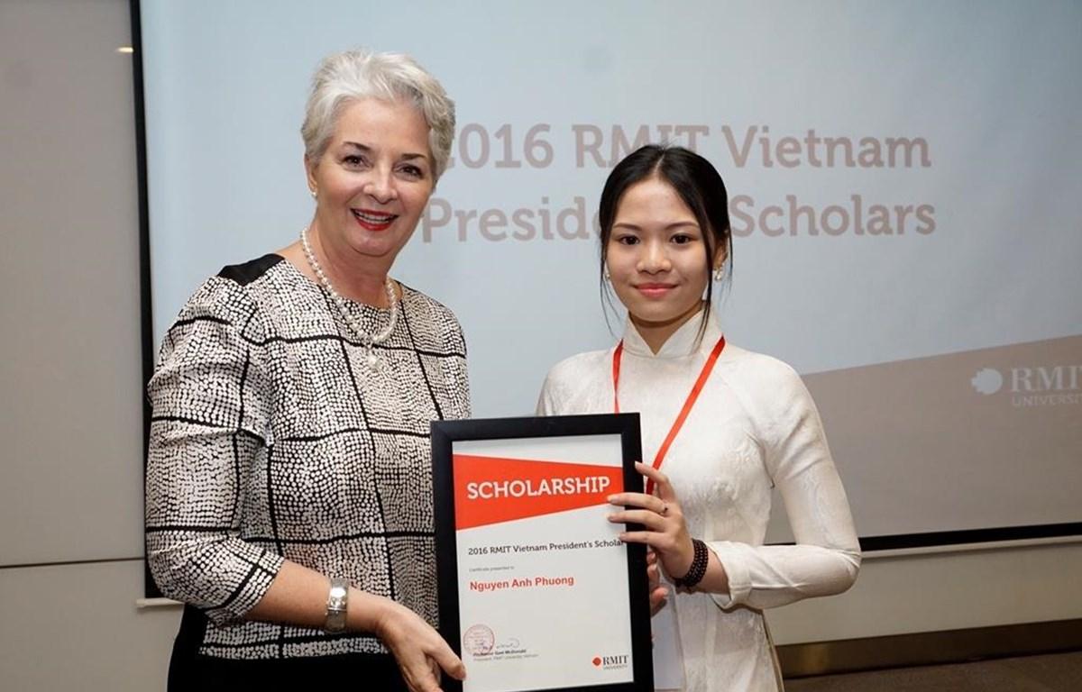 Học bổng Hiệu trưởng là học bổng danh giá nhất của RMIT chi trả 100% học phí chương trình đại học. (Ảnh: PV/Vietnam+)