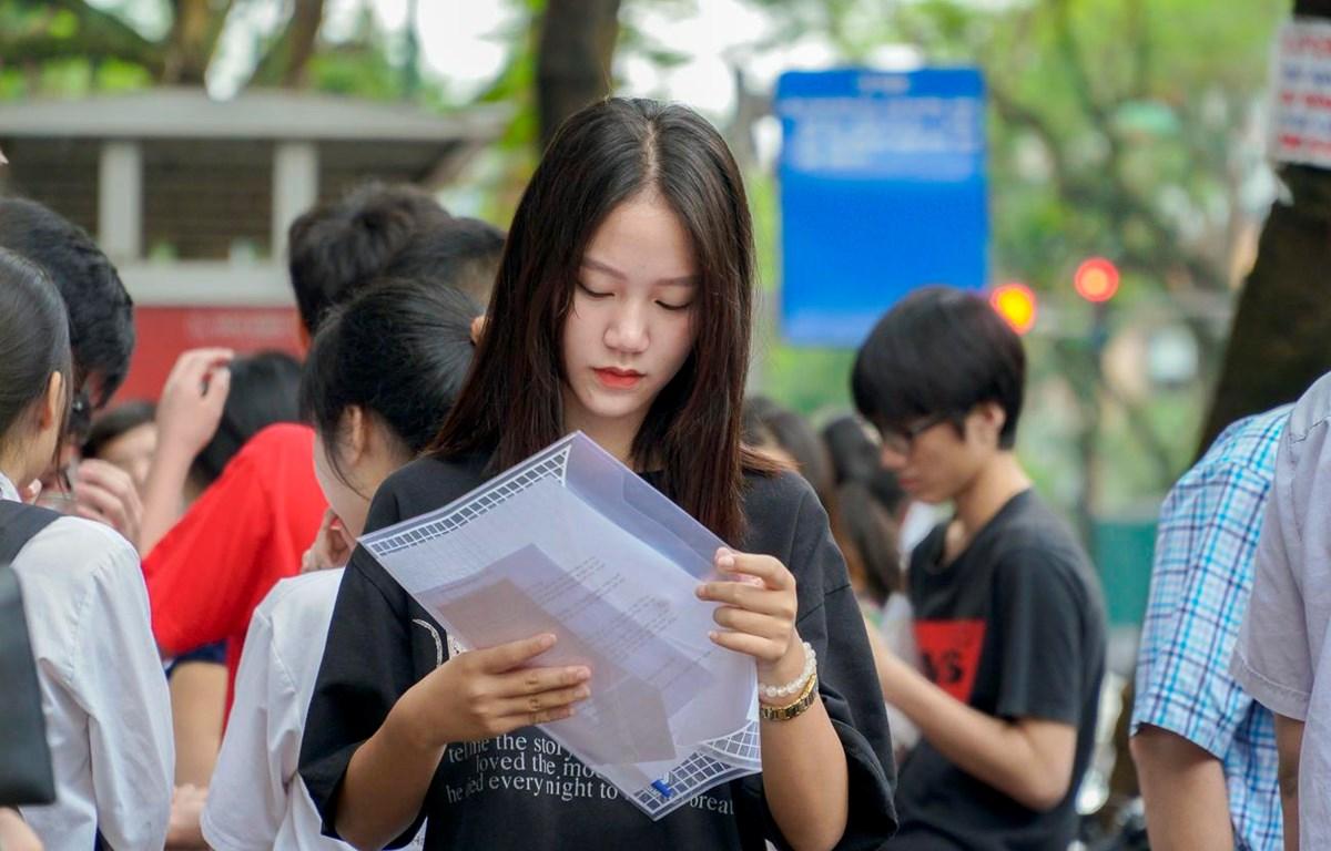 Thí sinh dự thi vào lớp 10. (Ảnh: Minh Sơn/Vietnam+)