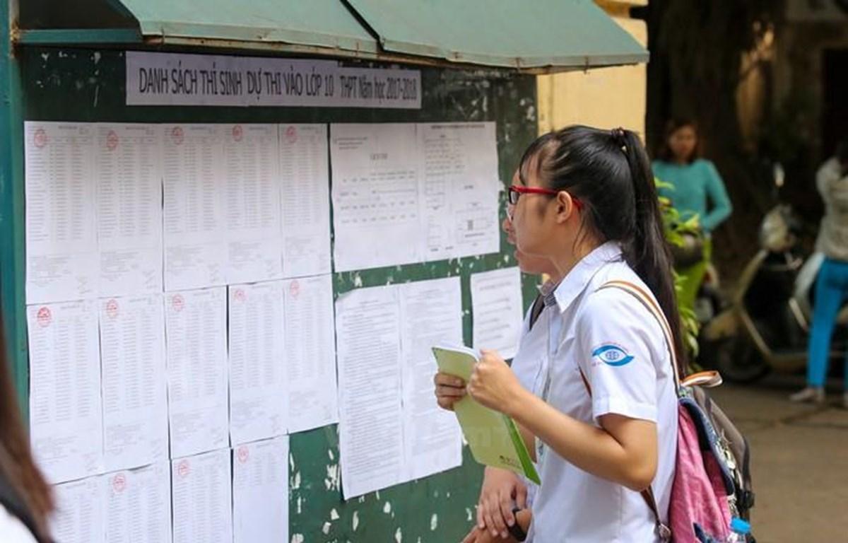 Thí sinh dự thi vào lớp 10. (Ảnh: PV/Vietnam+)