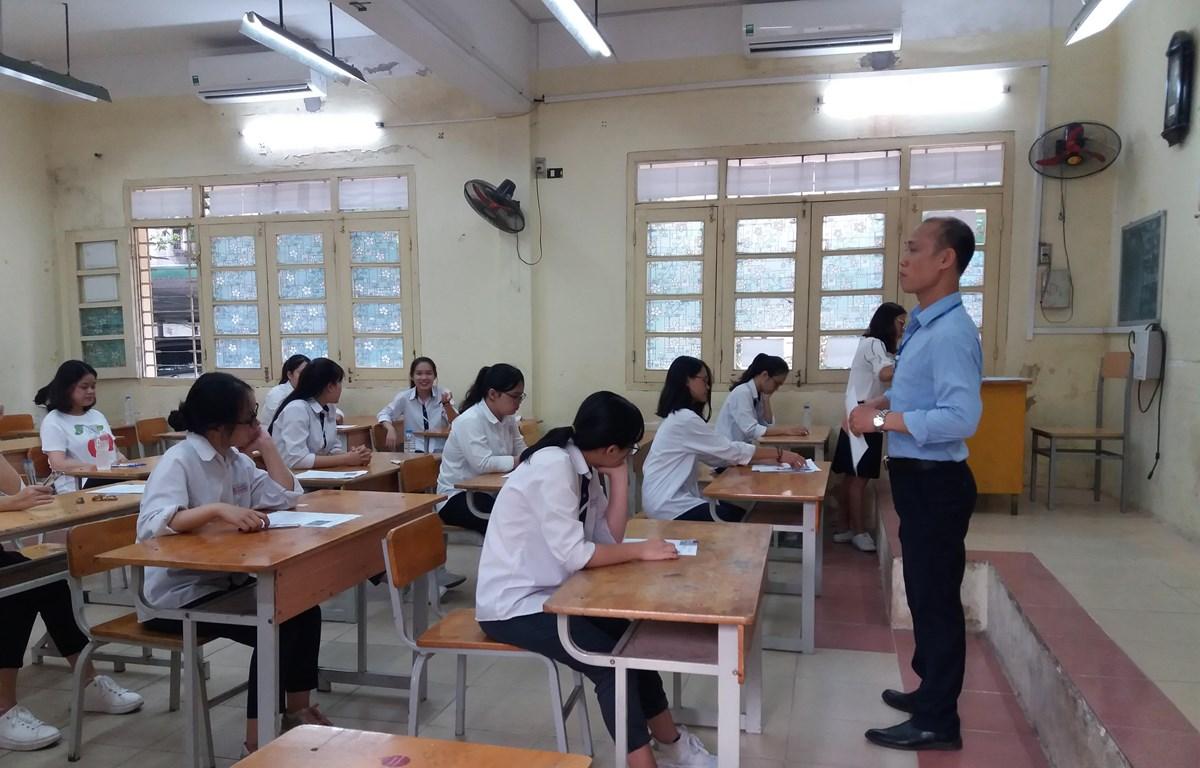 Thí sinh dự thi Trung học phổ thông quốc gia. (Ảnh: Phạm Mai/Vietnam+)