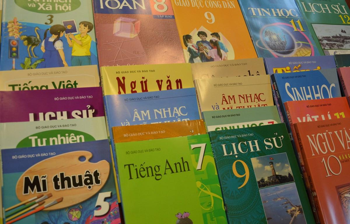 Sẽ có 110 triệu bản sách giáo khoa phục vụ năm học mới. (Ảnh: PV/Vietnam+)