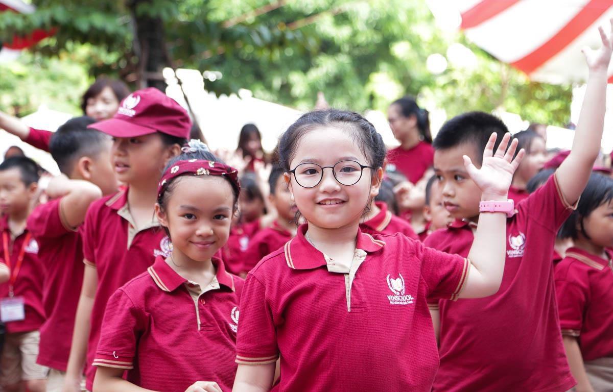 Học sinh Trường Tiểu học Vinschool trong ngày khai giảng. (Ảnh: PV/Vietnam+)