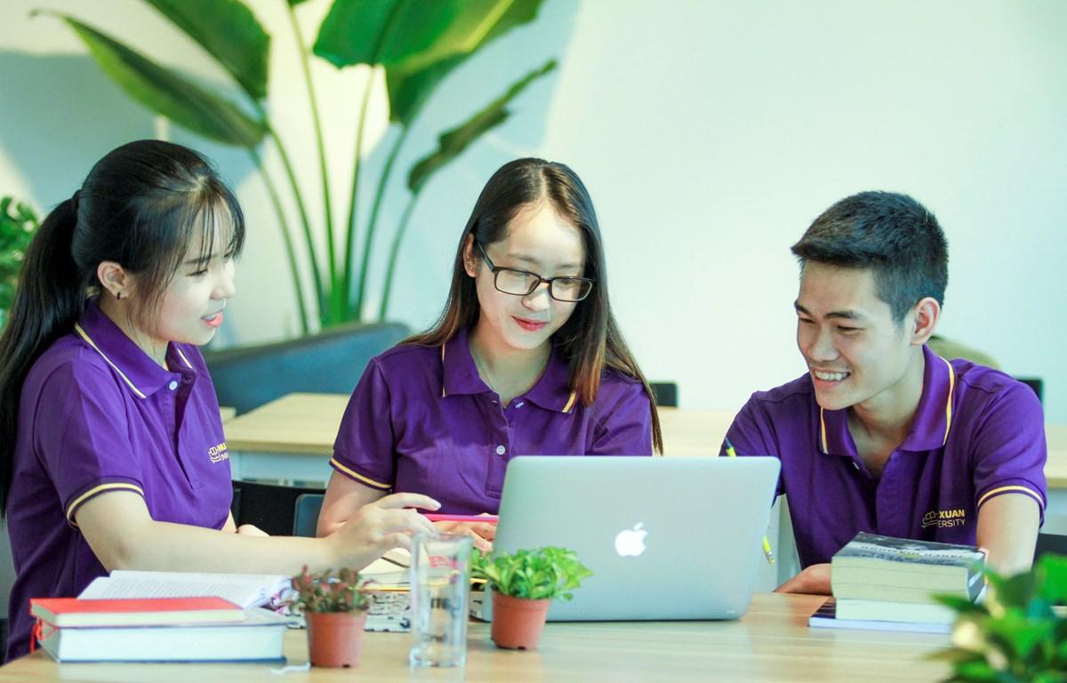 Sinh viên Đại học Phú Xuân. (Ảnh: PV/Vietnam+)