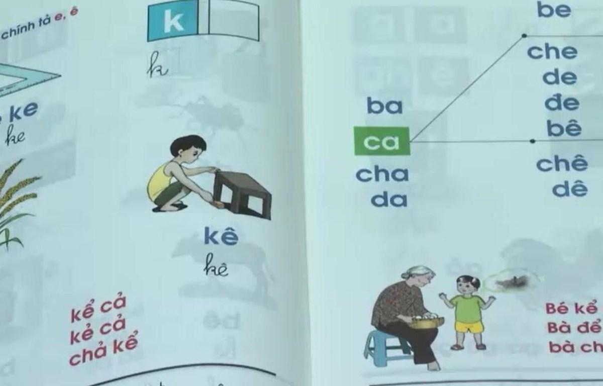 Sách giáo khoa công nghệ giáo dục. (Ảnh: PV/Vietnam+)