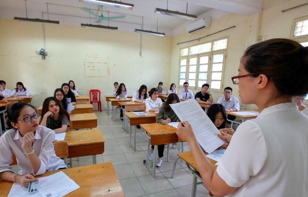 Thí sinh dự thi Trung học phổ thông quốc gia. Ảnh: Minh Sơn/Vietnam+