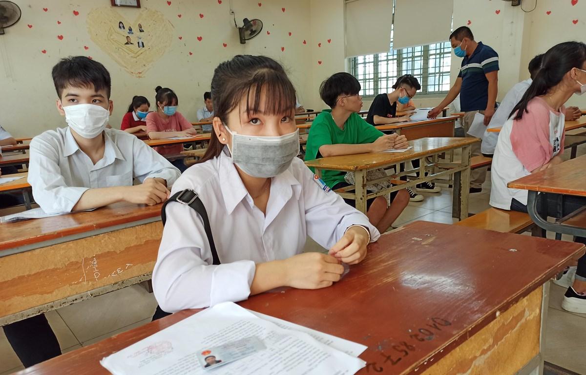 Thí sinh dự thi tốt nghiệp THPT. (Ảnh: Phạm Mai/Vietnam+)