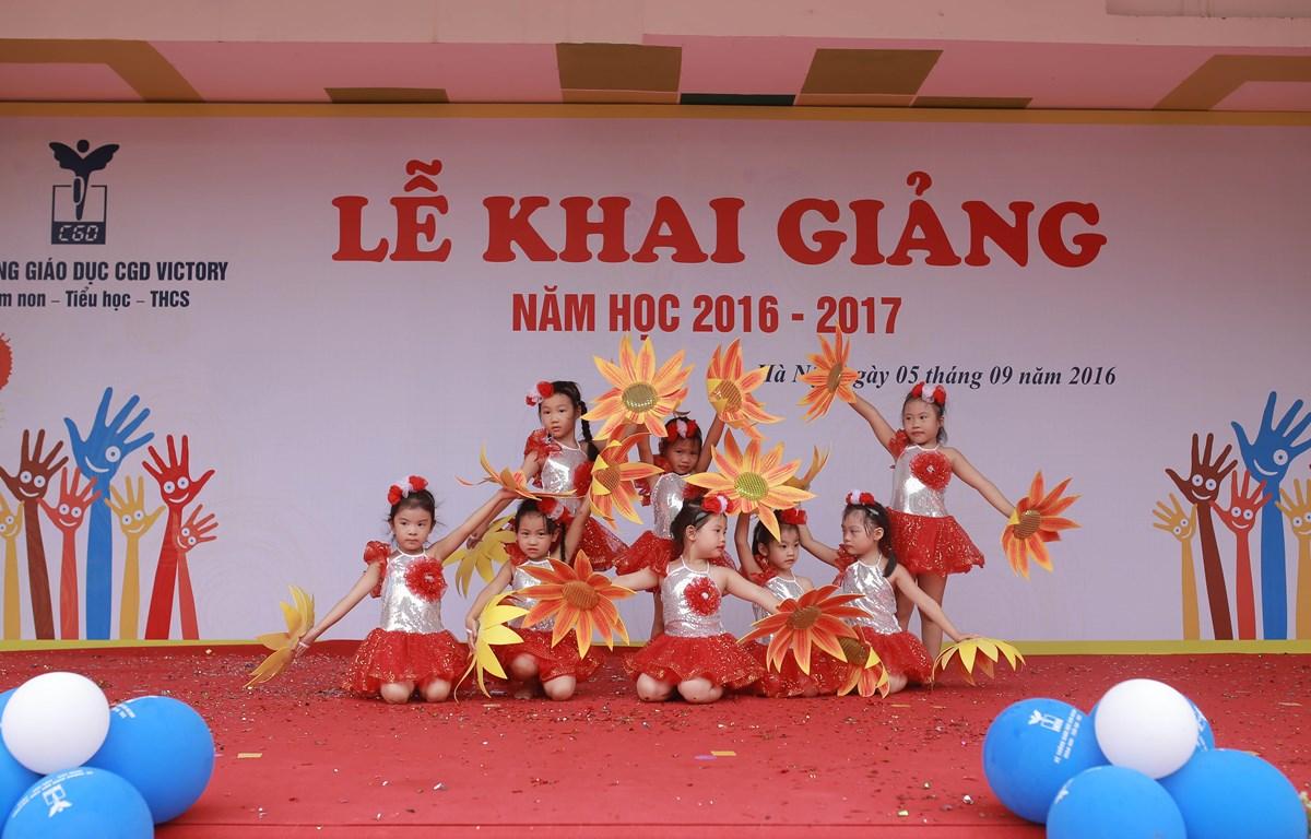 Lễ khai giảng sẽ được tổ chức thống nhất vào sáng 5/9. (Ảnh: PV/Vietnam+)