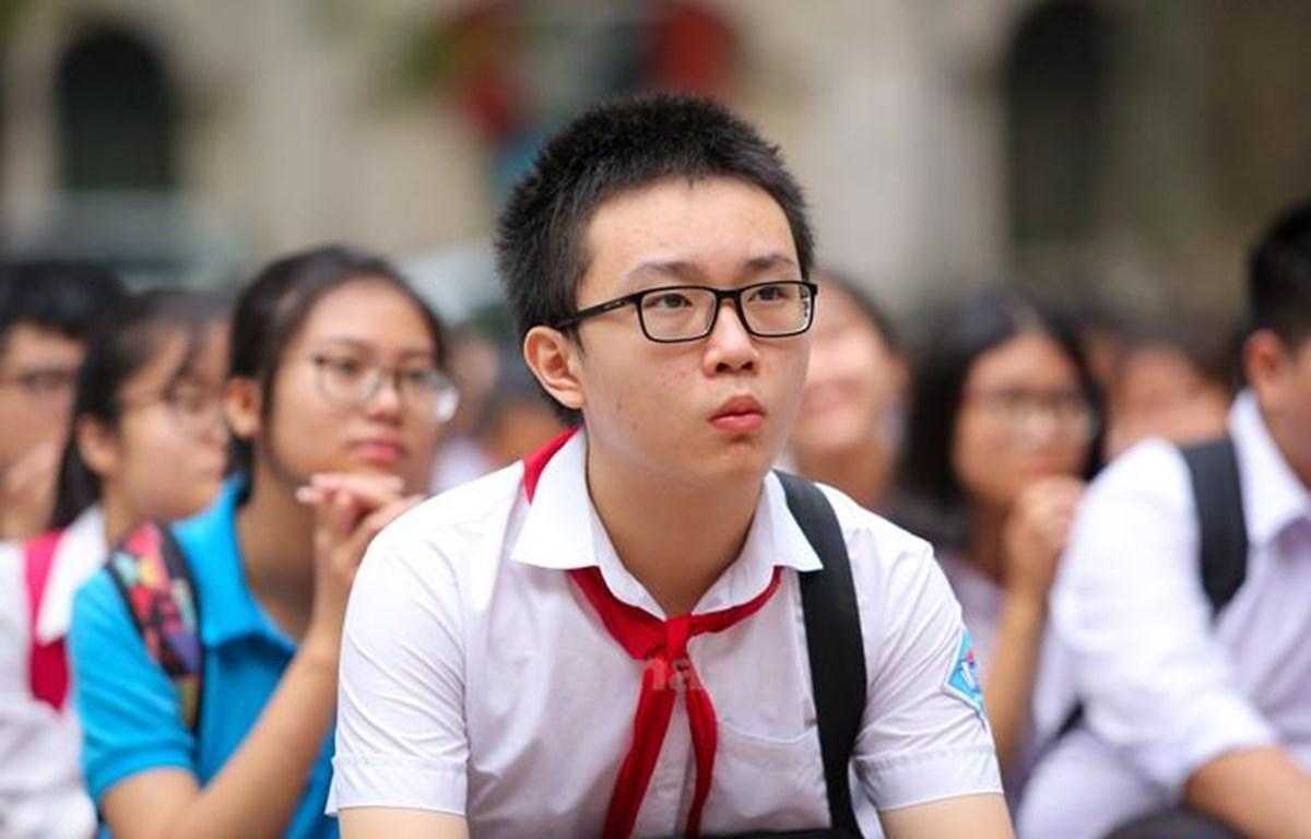Học sinh Hà Nội dự thi vào lớp 10. (Ảnh: Minh Sơn/Vietnam+)