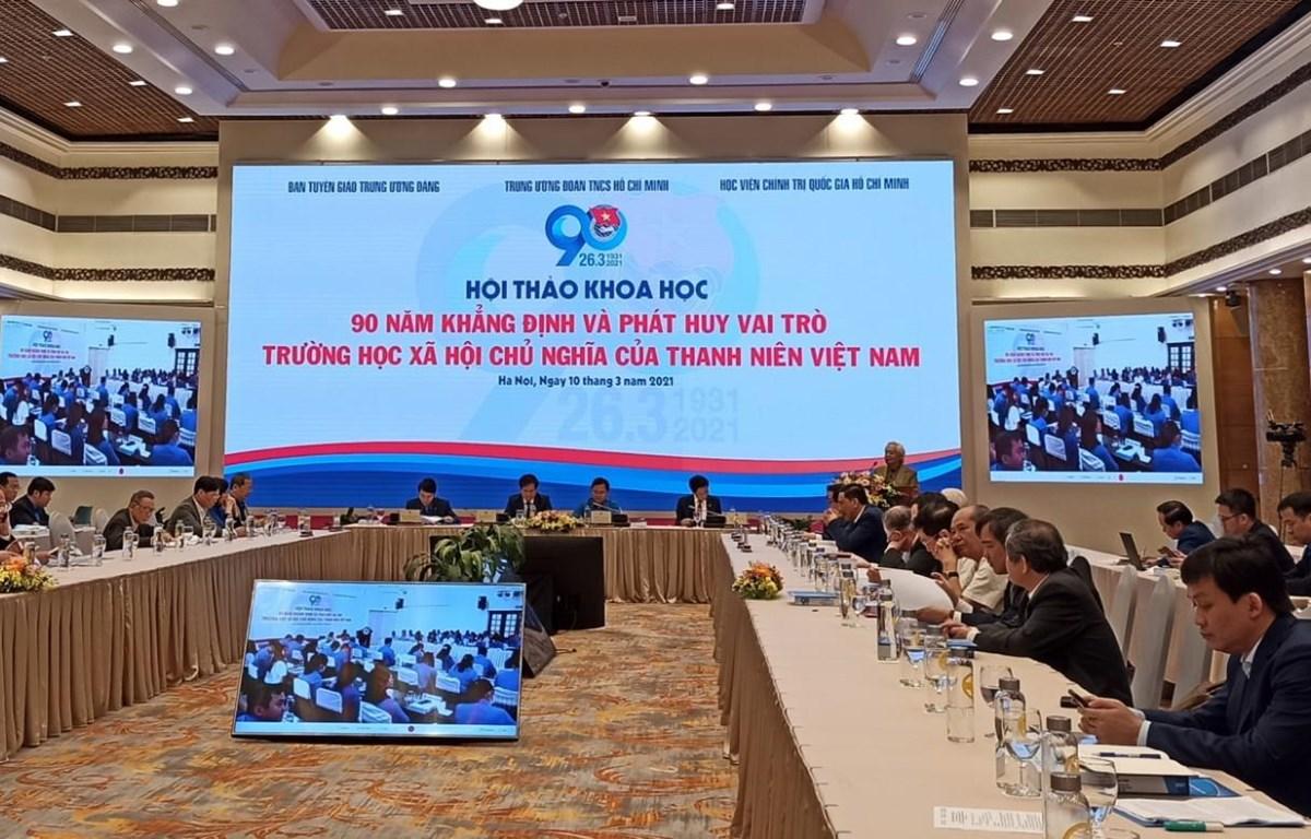 Hội thảo đã thu hút sự tham gia của đông đảo các đại biểu. (Ảnh: Phạm Mai/Vietnam+)