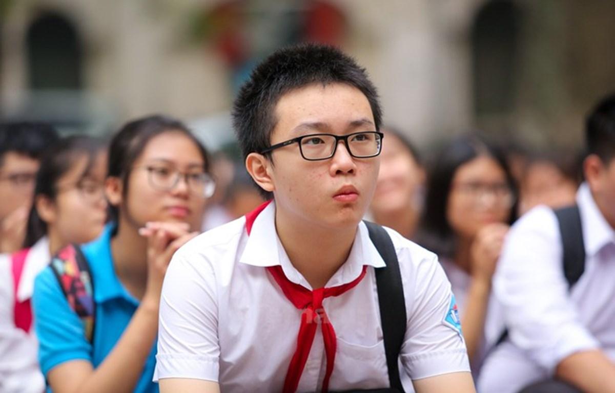 Học sinh Hà Nội thi vào lớp 10. (Ảnh: PV/Vietnam+)