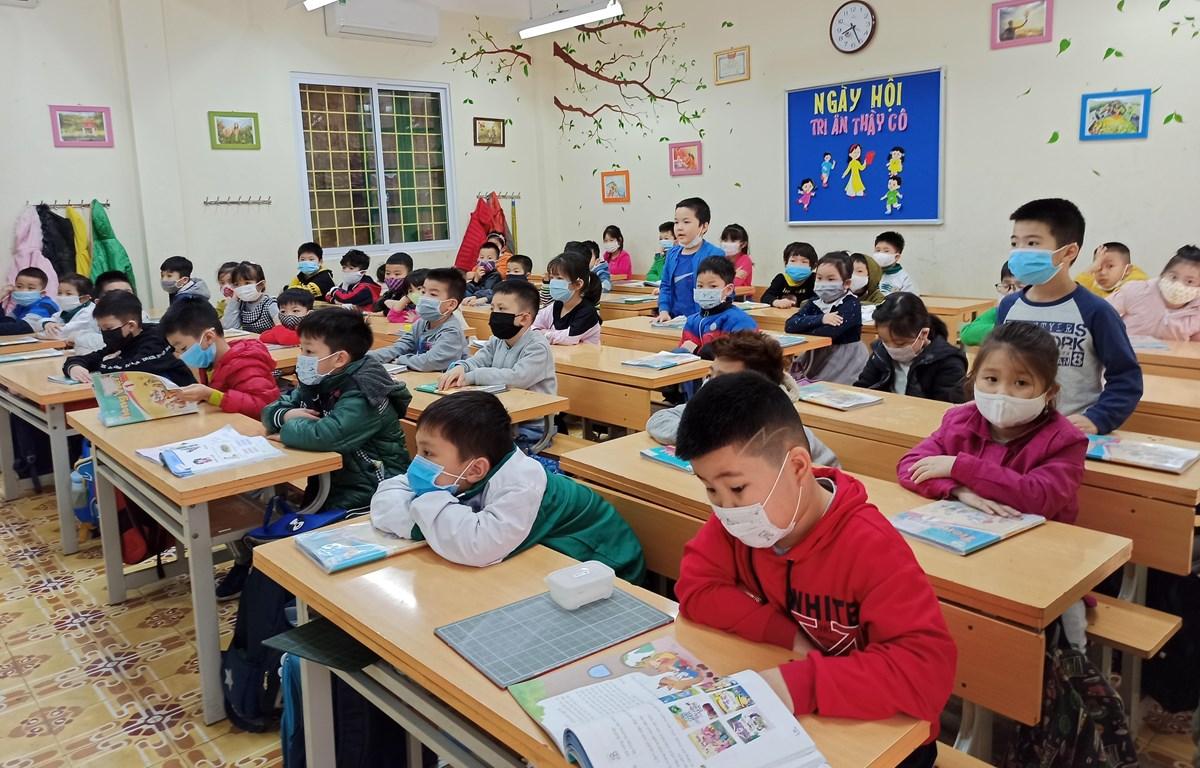 Giờ học của học sinh Trường Tiểu học Thanh Liệt. Thanh Trì, Hà Nội. (Ảnh minh họa: Phạm Mai/Vietnam+)