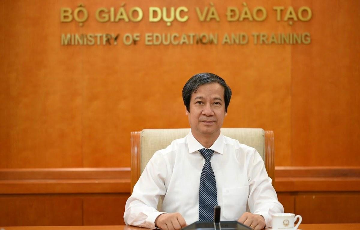 Bộ trưởng Bộ Giáo dục và Đào tạo Nguyễn Kim Sơn. (Ảnh: Bộ GD-ĐT)