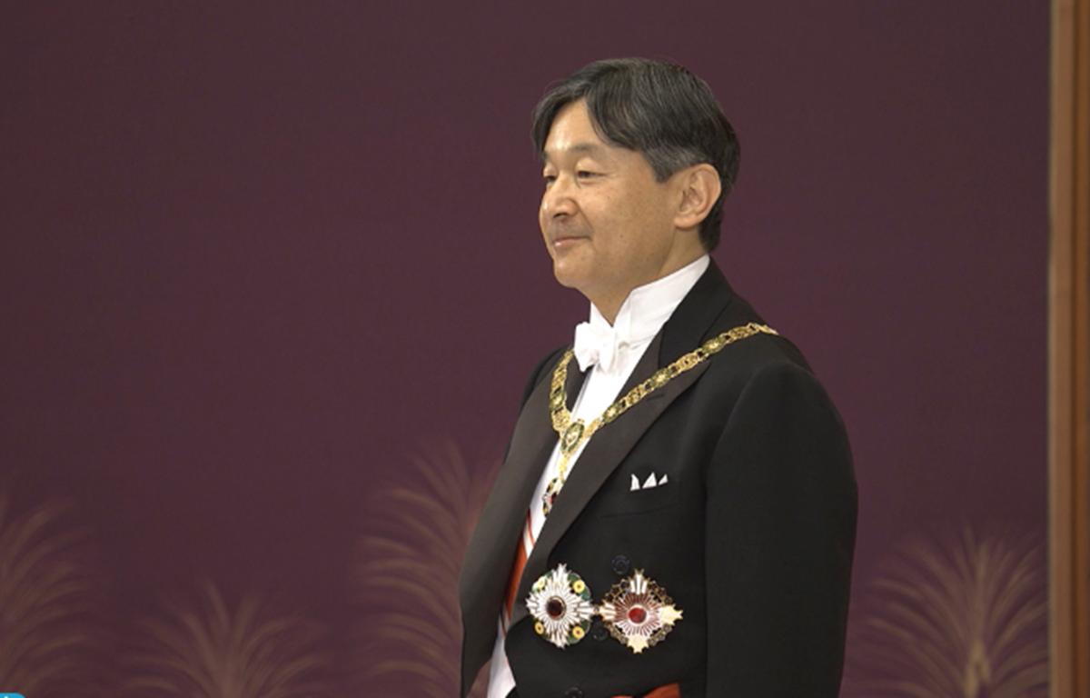 Nhật hoàng Naruhito nguyện hành động theo Hiến pháp, nguyện suy nghĩ và phụng sự lợi ích của người dân. (Nguồn: Pool)