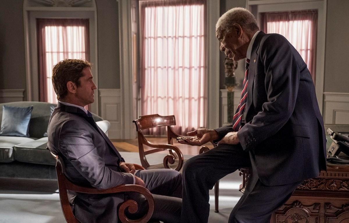 Gerard Butler và Morgan Freeman trong Angel Has Fallen (Nguồn: Fox)