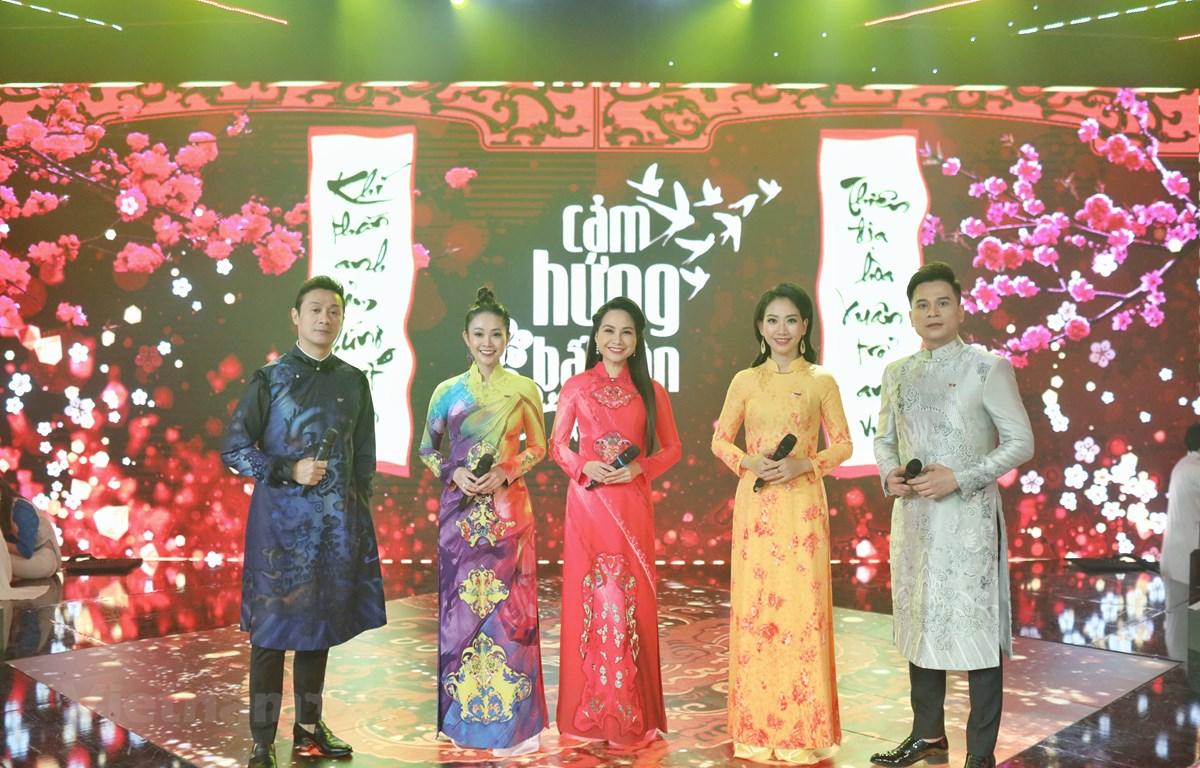 Chương trình có 5 MC dẫn dắt gồm Anh Tuấn, Thùy Linh, Mỹ Lan, Mỹ Vân và Danh Tùng. (Ảnh: VTV)