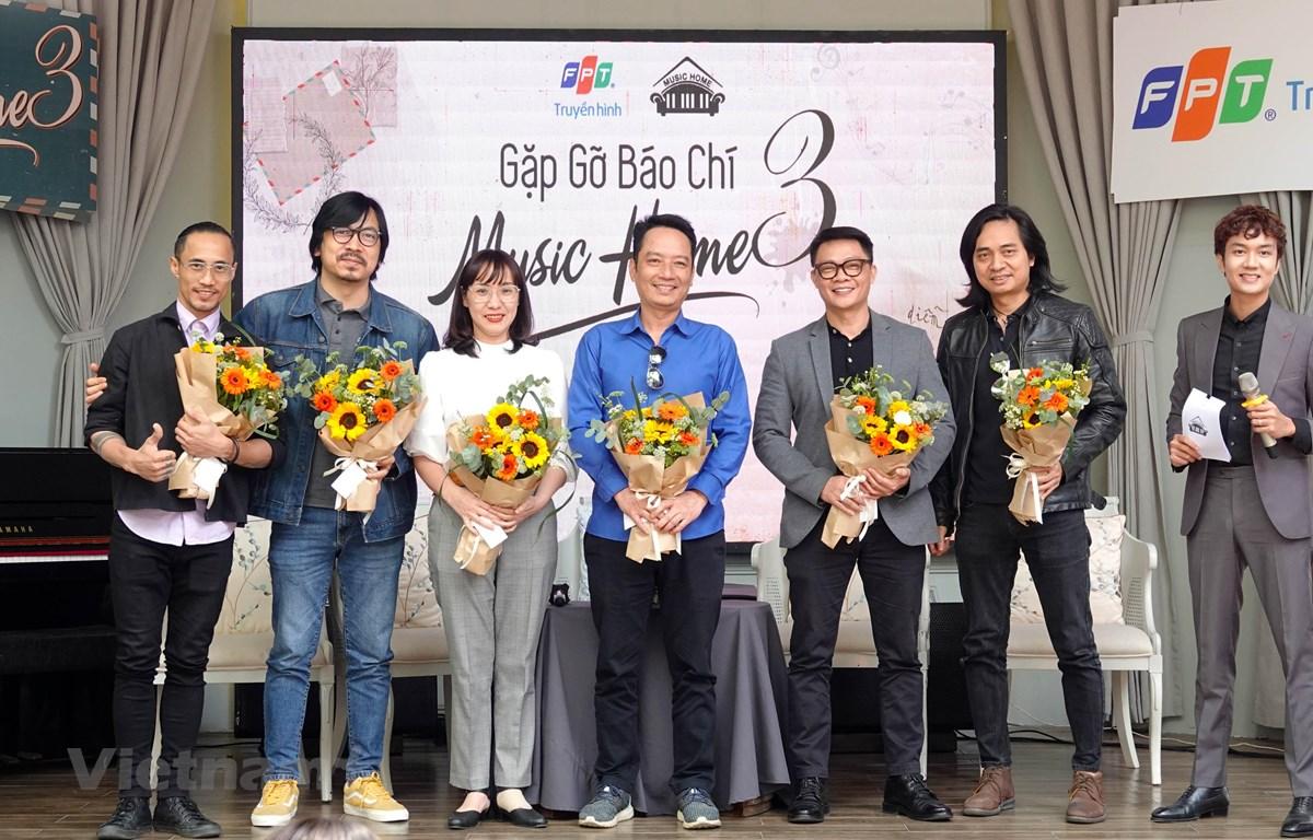 Đội ngũ sản xuất và thực hiện chuỗi chương trình Music Home mùa 3 có nhiều nhân tố mới. (Ảnh: PV/Vietnam+)