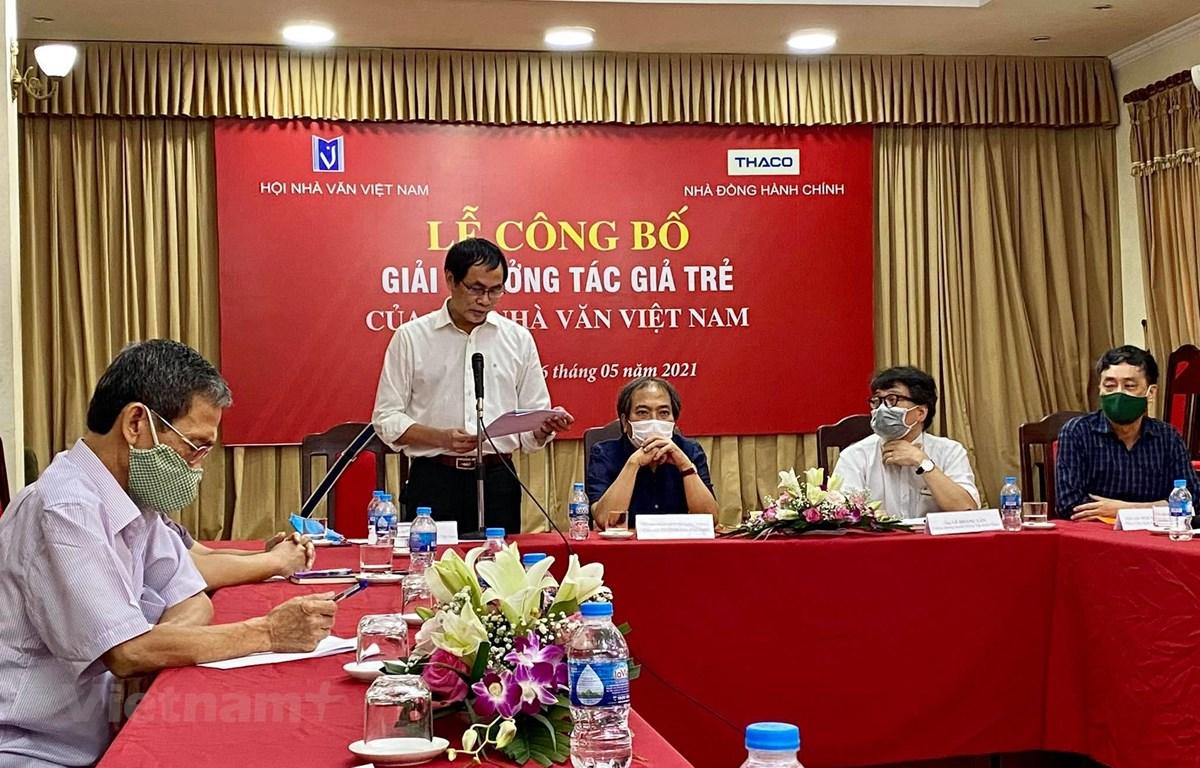 Hội Nhà văn Việt Nam công bố giải thưởng Tác giả trẻ như một sự tôn vinh những tác phẩm văn học của các tác giả trẻ. (Ảnh: Vương Hà/Vietnam+)