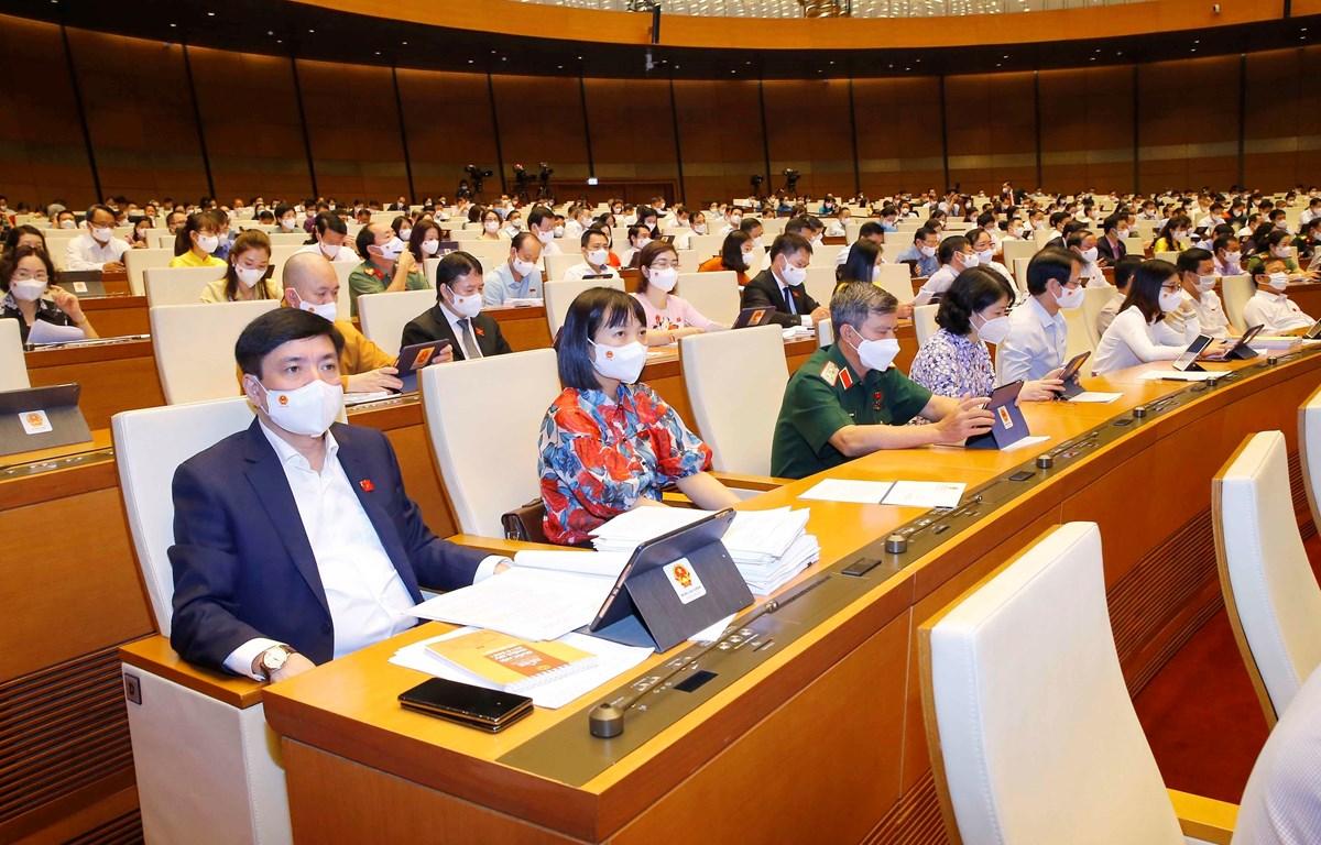 Các đại biểu tham dự phiên họp ngày 22/7. (Ảnh: TTXVN)
