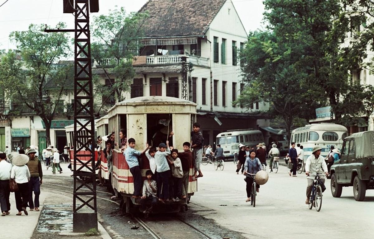 Một bức ảnh của ông Thomas Billhardt tại triển lãm ảnh về Hà Nội giai đoạn 1967-1975.