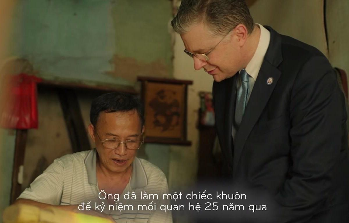 Ông Phạm Văn Quang và đại sứ Mỹ Daniel Kritenbrink (Ảnh: Chụp màn hình)