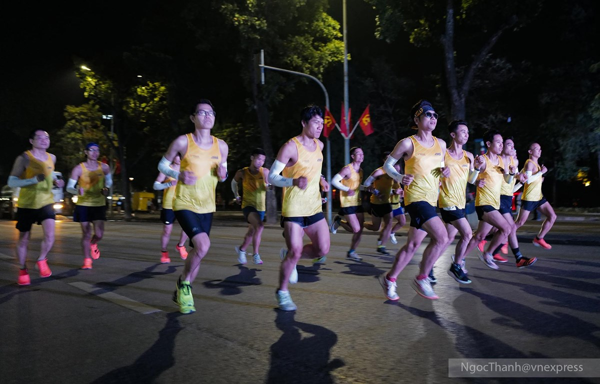 Giải chạy đêm sắp diễn ra với cung đường băng qua nhiều con phố đẹp của Hà thành. (Ảnh: Ngọc Thành)