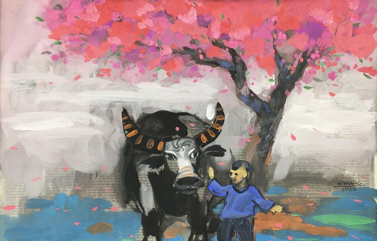 Tác phẩm của họa sỹ Nguyễn Quốc Thắng. (Ảnh: BTC)
