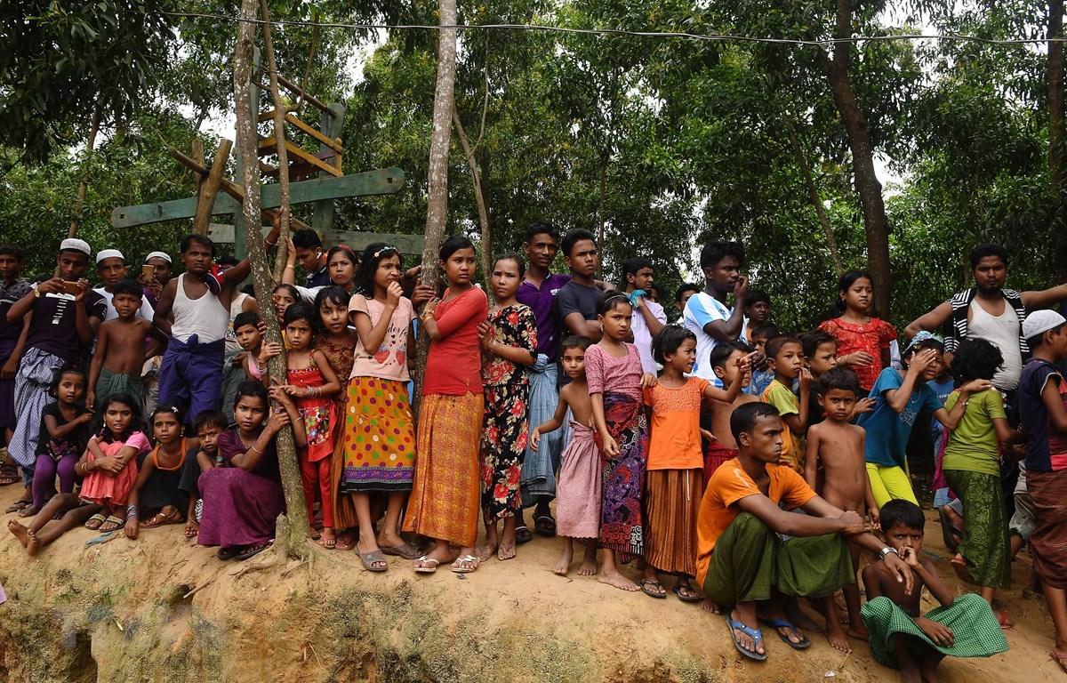 Người tị nạn Rohingya tại trại Kutupalong ở Ukhia, Bangladesh, ngày 25/8/2018. (Nguồn: AFP/TTXVN)