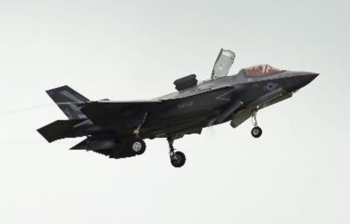 Máy bay F-35 của Mỹ hạ cánh xuống căn cứ không quân Misawa ở tỉnh Aomori, Nhật Bản. (Nguồn: Kyodo/TTXVN)
