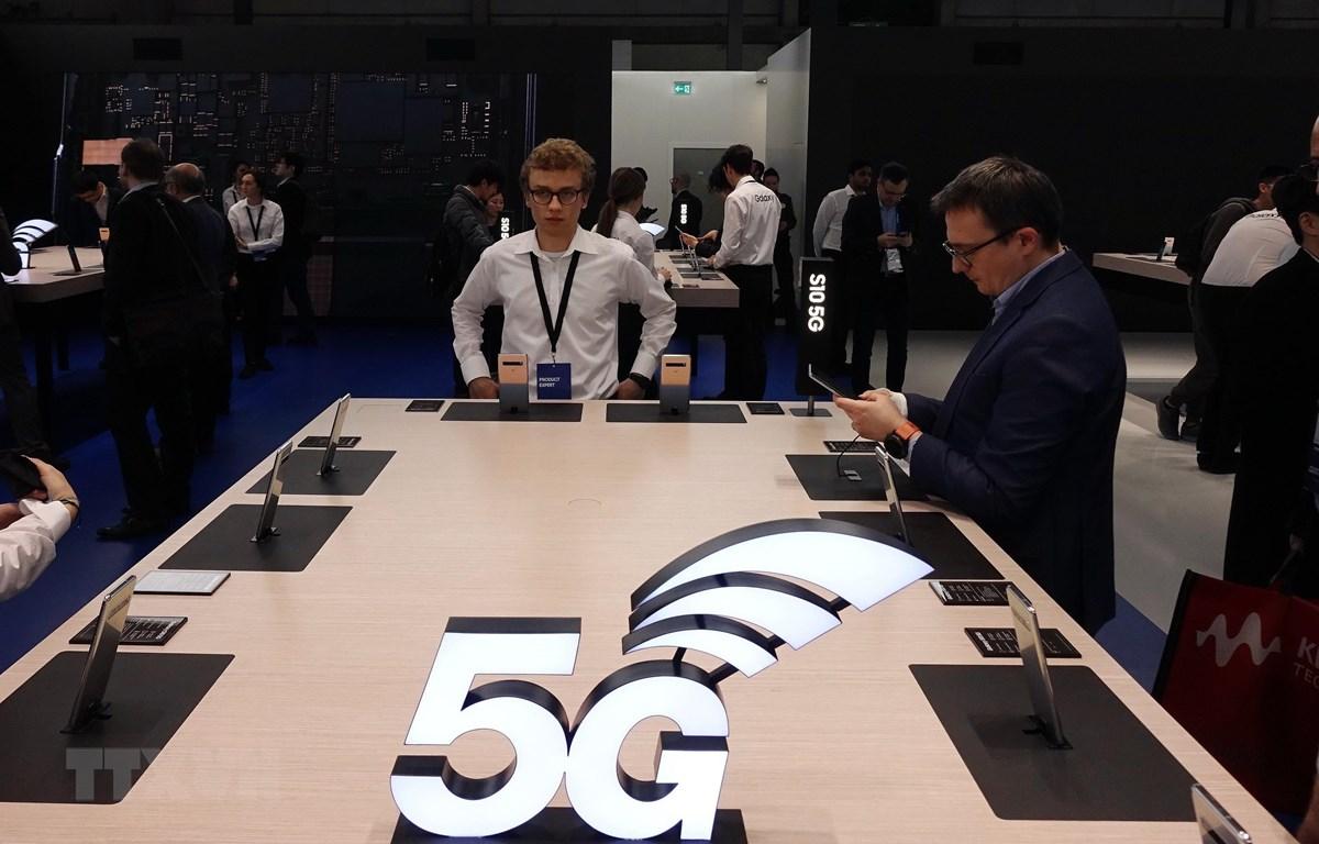 Công nghệ 5G được giới thiệu tại Hội nghị Di động thế giới 2019 ở Barcelona, Tây Ban Nha, ngày 26/2/2019. (Nguồn: THX/TTXVN)