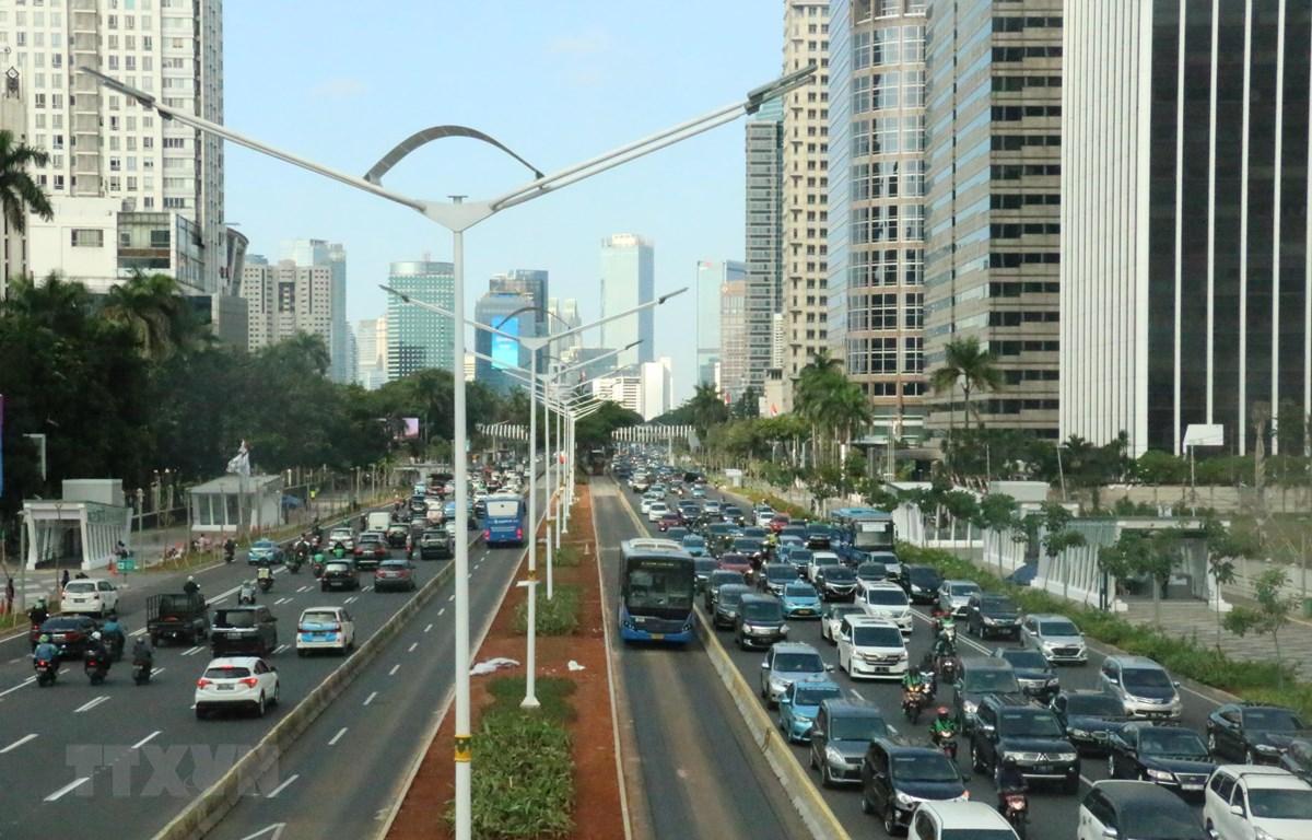 Đường phố Jakarta. (Ảnh: Đỗ Quyên/Vietnam+)