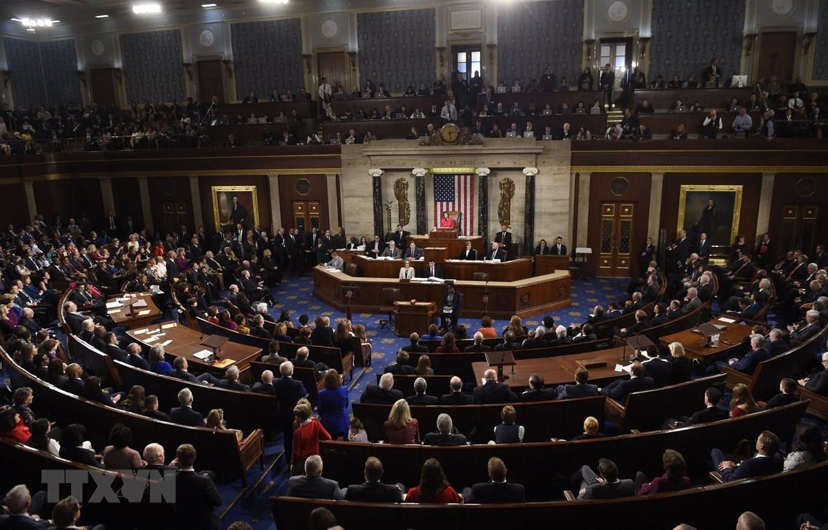 Toàn cảnh phiên họp Quốc hội Mỹ nhiệm kỳ thứ 116 tại Washington, DC, ngày 3/1/2019. (Nguồn: AFP/TTXVN)