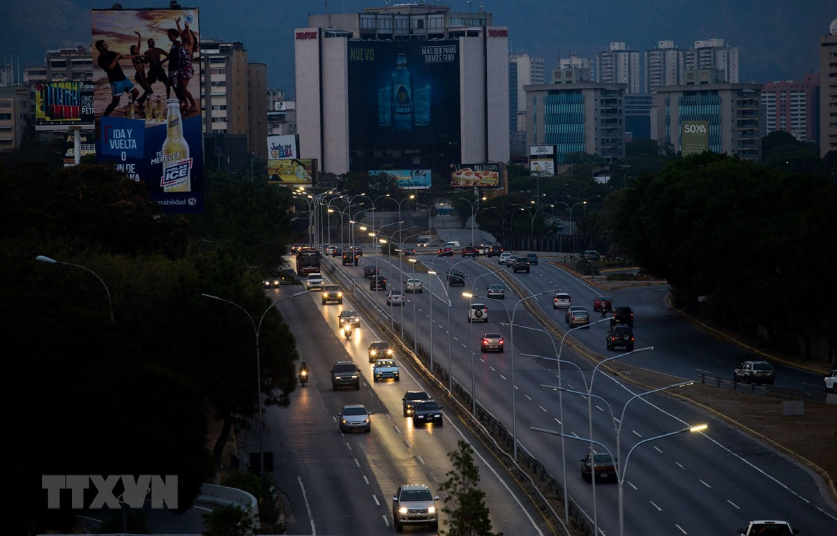 Cảnh mất điện tại Caracas, Venezuela, ngày 26/3/2019. (Nguồn: AFP/TTXVN)