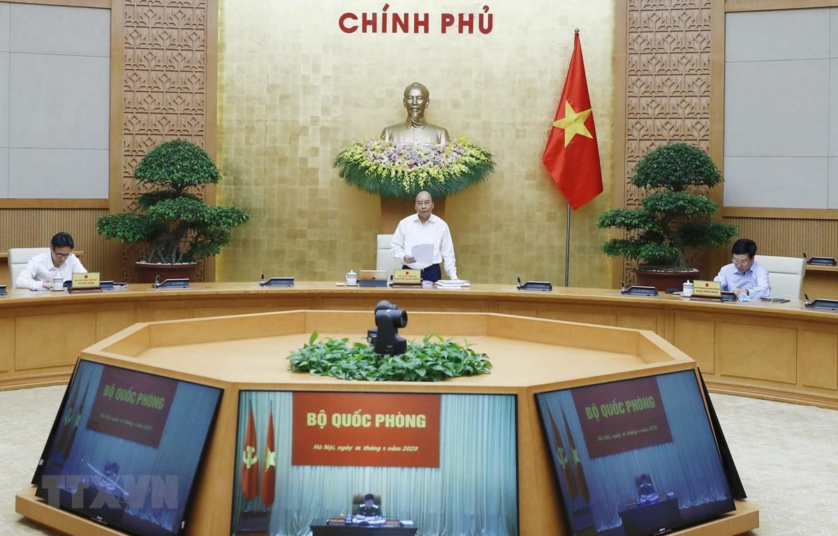 Sáng 5/5, Chính phủ họp Phiên thường kỳ tháng Tư dưới sự chủ trì của Thủ tướng Nguyễn Xuân Phúc.(Ảnh: Thống Nhất/TTXVN)