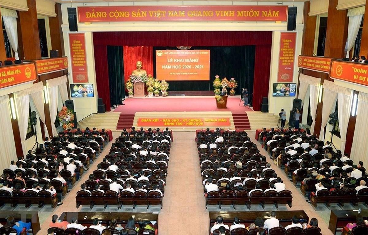 Toàn cảnh Lễ khai giảng năm học 2020-2021 của Học viện Chính trị Quốc gia Hồ Chí Minh. (Nguồn: TTXVN)