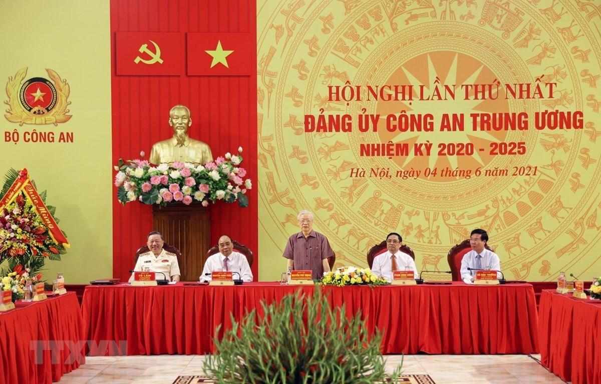 Tổng Bí thư Nguyễn Phú Trọng phát biểu tại buổi lễ. (Ảnh: Trí Dũng/TTXVN)