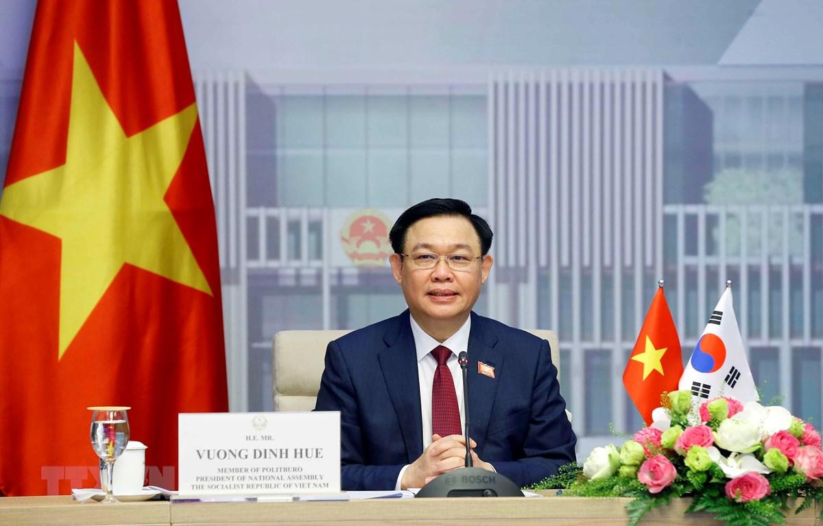 Chủ tịch Quốc hội Vương Đình Huệ phát biểu. (Ảnh: Doãn Tấn/TTXVN)