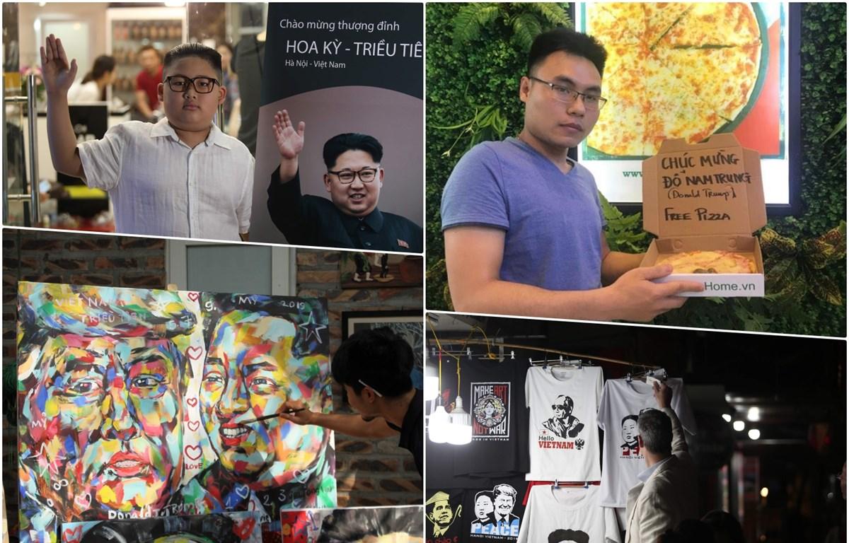 """Nhiều doanh nghiệp, nhà hàng, cửa hiệu đã tranh thủ tung ra các dịch vụ kinh doanh """"ăn theo"""" để quảng bá và thu hút khách. (Ảnh: Minh Sơn/Vietnam+)"""