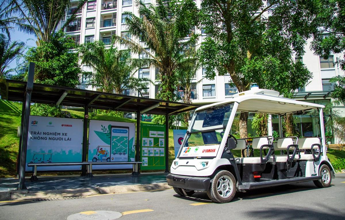 FPT Software và Tập đoàn Ecopark đã thử nghiệm thành công xe tự hành trong khuôn viên khu đô thị. (Ảnh: FPT)