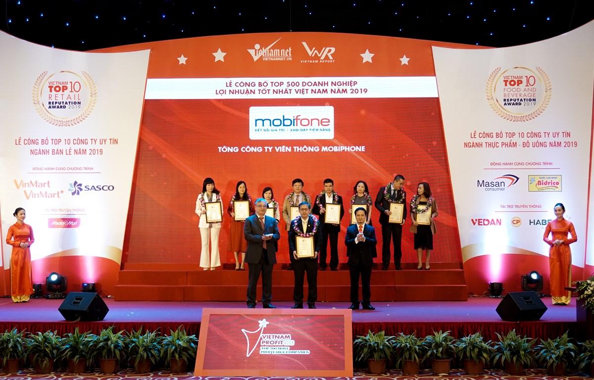MobiFone lọt vào Top 500 doanh nghiệp Việt có lợi nhuận tốt nhất năm 2019. (Ảnh: MobiFone)