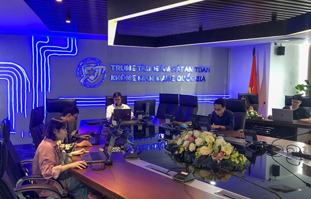 Trung tâm Giám sát an toàn không gian mạng Việt Nam. (Ảnh: Minh Sơn/Vietnam+)