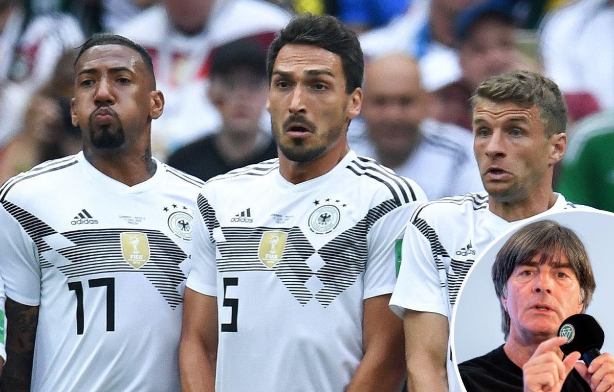 Ba nhà cựu vô địch thế giới 2014 Thomas Muller, Mats Hummels và Boateng đã bị HLV Joachim Low loại khỏi đội tuyển Đức. (Ảnh: Nguồn DFB)