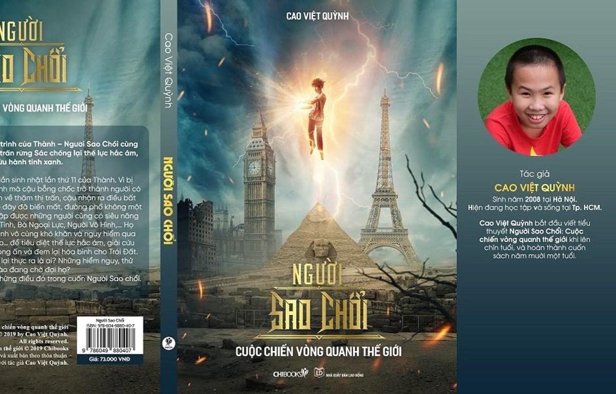 Ảnh bìa cuốn sách và chân dung Cao Việt Quỳnh