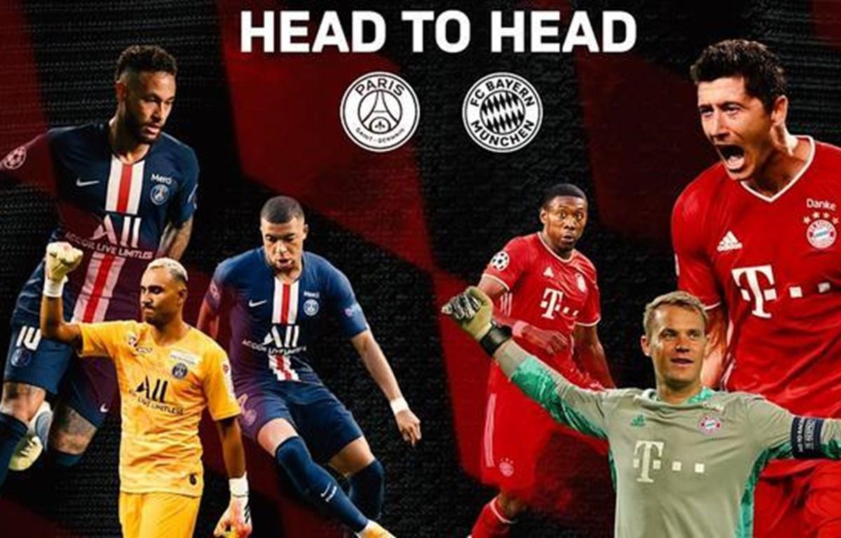 Chung kết Champions League-cuộc đối đầu lần thứ 9 giữa PSG và Bayern Munich