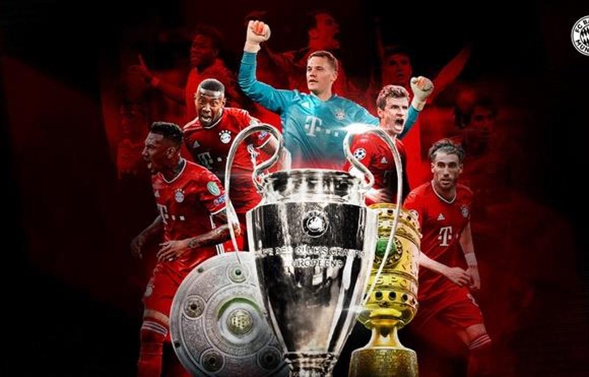 Năm người hùng đã có mặt trong cả hai triple 2013 và 2020, đó là: Manuel Neuer, David Alaba, Jerome Boateng, Thomas Müller và Javi Martínez. (Ảnh: Fcb.com)