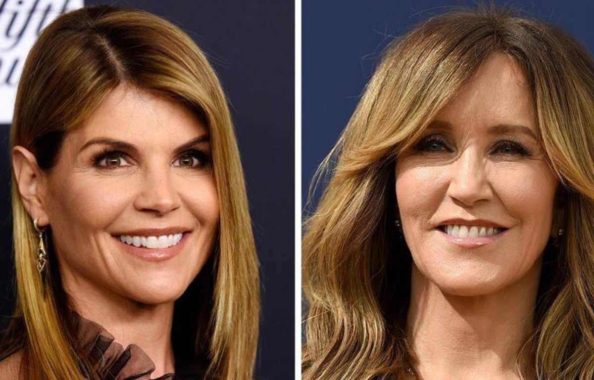 Các nữ diễn viên Lori Loughlin và Felicity Huffmann, tâm điểm của vụ bê bối gian lận tuyển sinh ở Mỹ (Nguồn: Fox News)