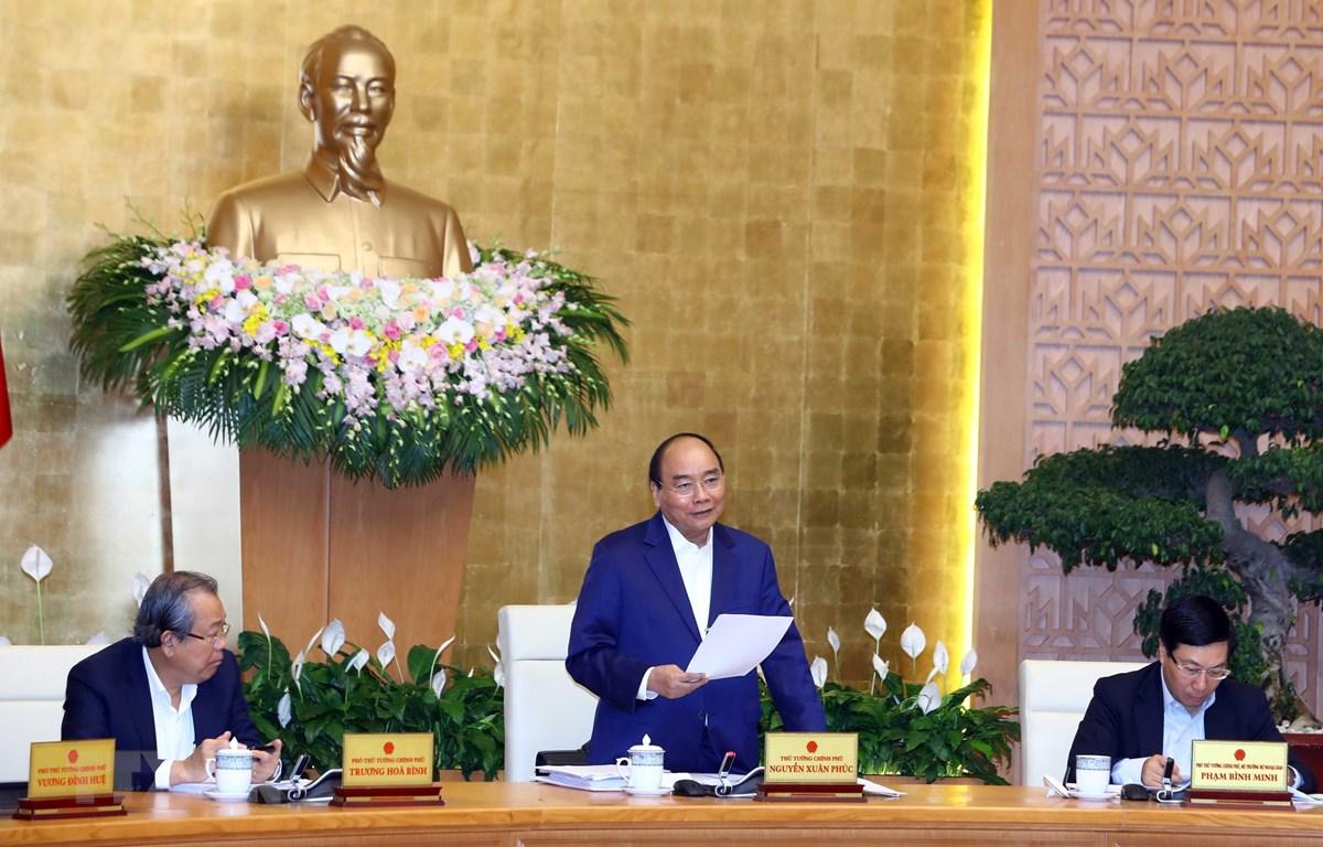 Thủ tướng Nguyễn Xuân Phúc phát biểu. (Nguồn: Thống Nhất/TTXVN)